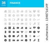 finance line web glyph icons.... | Shutterstock .eps vector #1348716149