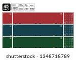 container 45 ft. standard  ... | Shutterstock .eps vector #1348718789