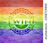 twine lgbt colors emblem    Shutterstock .eps vector #1348719890