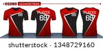 red and black sport shirt  t... | Shutterstock .eps vector #1348729160