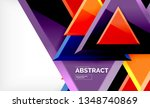 triangles repetiton geometric... | Shutterstock .eps vector #1348740869