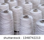 row of textile threads industry ... | Shutterstock . vector #1348742213