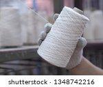 hands man working in textile... | Shutterstock . vector #1348742216