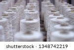 row of textile threads industry ... | Shutterstock . vector #1348742219