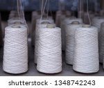 row of textile threads industry ... | Shutterstock . vector #1348742243