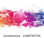 colorful abstract artistic... | Shutterstock . vector #1348750730