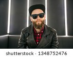 hipster fashion man model... | Shutterstock . vector #1348752476