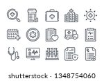 medical care related line icon...   Shutterstock .eps vector #1348754060