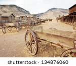 Old Wooden Wagons In A Ghost...