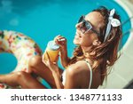 beautiful smiling happy young...   Shutterstock . vector #1348771133