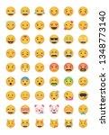 big set of emoticon vector...   Shutterstock .eps vector #1348773140