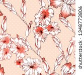 trendy floral seamless pattern... | Shutterstock . vector #1348773806