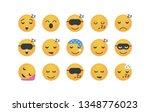set of sleep emoticon vector... | Shutterstock .eps vector #1348776023