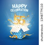 55 th years anniversary and... | Shutterstock .eps vector #1348779110