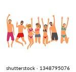 cartoon flat vector... | Shutterstock .eps vector #1348795076