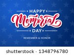 memorial day. remember and... | Shutterstock .eps vector #1348796780
