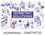 collection of isometric design... | Shutterstock .eps vector #1348799720