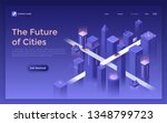 landing page with futuristic... | Shutterstock .eps vector #1348799723