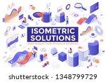 set of isometric design... | Shutterstock .eps vector #1348799729