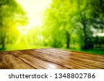 desk of free space for your... | Shutterstock . vector #1348802786
