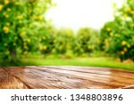 desk of free space for your... | Shutterstock . vector #1348803896