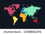 world map vector | Shutterstock .eps vector #1348806296