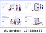 online language courses concept ...   Shutterstock .eps vector #1348806686