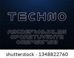 vector technology contour font. ... | Shutterstock .eps vector #1348822760
