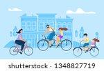 vector flat illustration girl... | Shutterstock .eps vector #1348827719