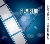 film stripe over blue... | Shutterstock .eps vector #134883044