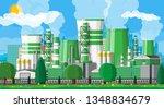 factory building. industrial... | Shutterstock .eps vector #1348834679