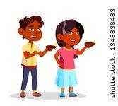 indian children in diwali...   Shutterstock . vector #1348838483
