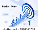 team target hitting metaphor... | Shutterstock .eps vector #1348840733
