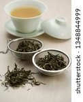 picture of natural tea leaves | Shutterstock . vector #1348844999