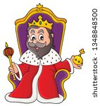 king on throne theme image 1  ...   Shutterstock .eps vector #1348848500