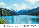 natural sky and mountain range | Shutterstock . vector #1348858979