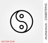 yin yang icon vector sign... | Shutterstock .eps vector #1348870943