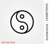 Yin Yang Icon Vector Sign...