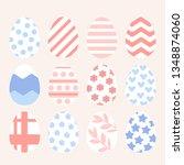 easter eggs set of vector... | Shutterstock .eps vector #1348874060