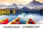 beautiful mountain landscape  | Shutterstock . vector #1348881329