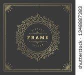 vintage flourishes ornament... | Shutterstock .eps vector #1348887383
