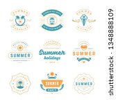 summer holidays labels and... | Shutterstock .eps vector #1348888109