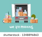 corporate moving into new... | Shutterstock .eps vector #1348896863