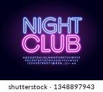 vector illuminated emblem night ... | Shutterstock .eps vector #1348897943