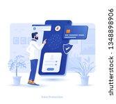 modern flat design illustration ... | Shutterstock .eps vector #1348898906