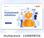 landing page template of... | Shutterstock .eps vector #1348898936