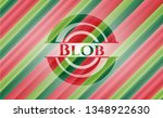 blob christmas colors style... | Shutterstock .eps vector #1348922630