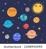 funny planets of solar system... | Shutterstock .eps vector #1348945490