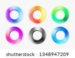 set of modern rings circles... | Shutterstock .eps vector #1348947209