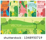vector abstract floral herbal... | Shutterstock .eps vector #1348950719